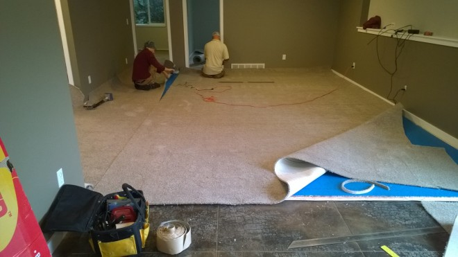 Another big job for the boys of Keystone Carpets